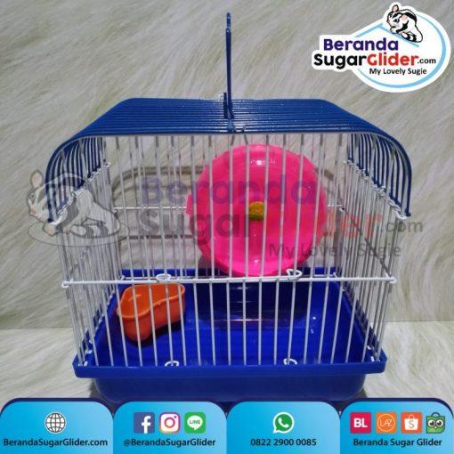 Kandang Besi Lipat Smart Home Biru Ukuran Mini Extra Small Size XS Hewan Peliharaan Joey Sugar Glider SG Bajing Kelapa Burung Guinea Pig Hamster Marmut Tupai Terbang