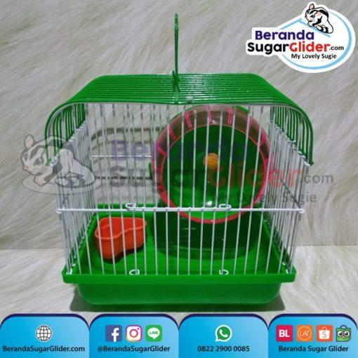 Kandang Besi Lipat Smart Home Hijau Ukuran Mini Extra Small Size XS Hewan Peliharaan Joey Sugar Glider SG Bajing Kelapa Burung Guinea Pig Hamster Marmut Tupai Terbang