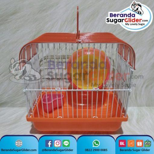 Kandang Besi Lipat Smart Home Orange Ukuran Mini Extra Small Size XS Hewan Peliharaan Joey Sugar Glider SG Bajing Kelapa Burung Guinea Pig Hamster Marmut Tupai Terbang