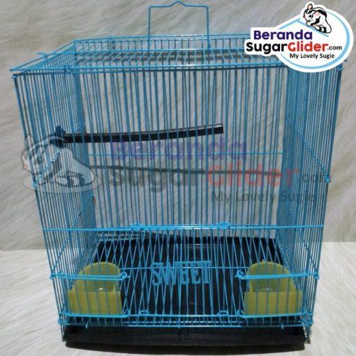 Kandang Besi Lipat Sweet Warna Biru Ukuran Kecil Small Size S Hewan Peliharaan Joey Sugar Glider SG Bajing Kelapa Burung Gecko Guinea Pig Hamster Marmut Tupai Terbang