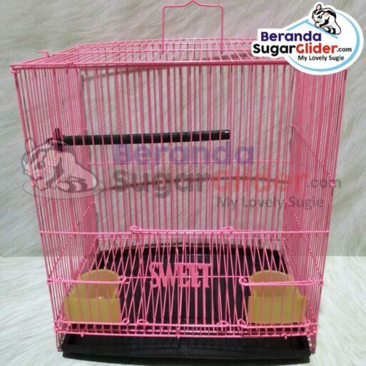 Kandang Besi Lipat Sweet Warna Merah Muda Pink Ukuran Kecil Small Size S Hewan Peliharaan Joey Sugar Glider SG Bajing Kelapa Burung Gecko Guinea Pig Hamster Marmut Tupai Terbang