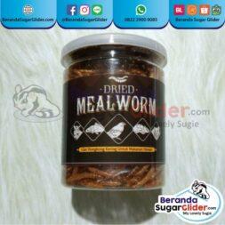 Dried Mealworm Ulat Hongkong Kering Makanan Hewan Peliharaan Kecil Sugar Glider SG Bajing Kelapa Landak Mini Tupai Terbang Mamalia