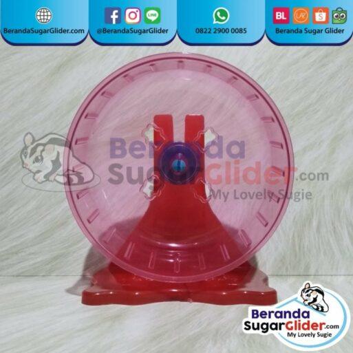 Jogging Wheel Roda Putar Warna Merah Mainan Hewan Peliharaan Kecil Sugar Glider SG Bajing Kelapa Hamster Landak Mini Tupai Terbang Mamalia