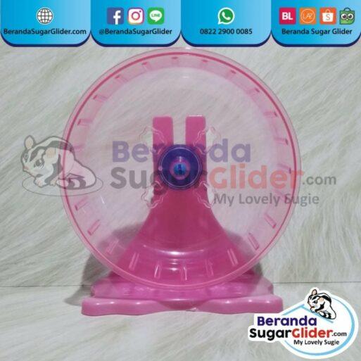 Jogging Wheel Roda Putar Warna Pink Mainan Hewan Peliharaan Kecil Sugar Glider SG Bajing Kelapa Hamster Landak Mini Tupai Terbang Mamalia