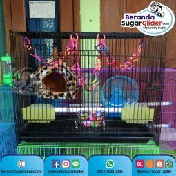 Kandang Besi Lipat Sweet Ukuran Sedang Medium Size M Full Set 4 Hewan Peliharaan Joey Sugar Glider SG Bajing Kelapa Burung Guinea Pig Hamster Landak Mini Marmut Musang Otter Tupai Terbang