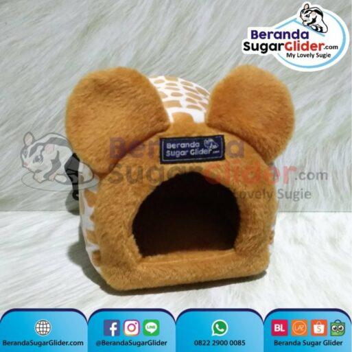 Sleeping Pouch Kuping Warna Jerapah Dalam Kuning Tempat Tidur Sugar Glider SG Bajing Kelapa Tupai Terbang Mamalia